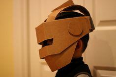 robot cardboard mask