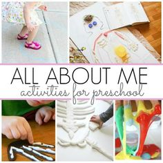Activities for All About Me Theme - Pre-K Pages All About Me Activities For Toddlers, All About Me Preschool Theme, All About Me Crafts, Science For Toddlers, Body Preschool, Preschool Science Activities, Pre K Activities, Preschool Themes, Cutting Activities