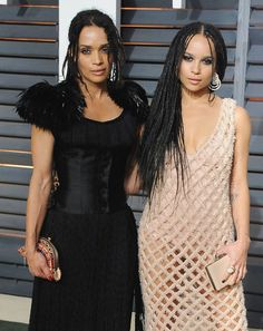 Pin for Later: 28 Pictures That Prove Zoë Kravitz Had No Choice but to Be Ridiculously Good Looking  Zoë and her mom slayed the red carpet at Vanity Fair's annual Oscars afterparty in February 2015.