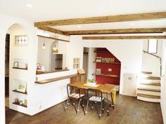 まっ白キュートな自然素材の家