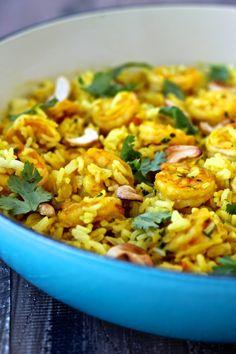 Shrimp Biriyani | The Foodie Physician #ad