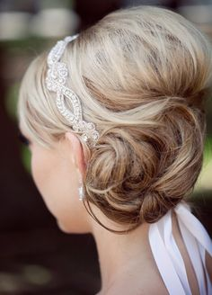 20 Low Updo Hair Styles for Brides - Mon Cheri Bridals