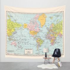 A world map from the early 1900s - perfect addition to your bedroom or den...or…