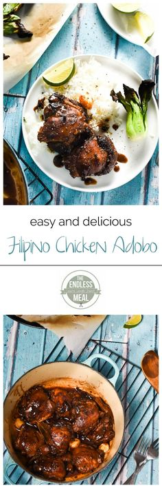 Filipino Chicken Adobo | your whole family will love this quick and easy to make weeknight meal | theendlessmeal.com
