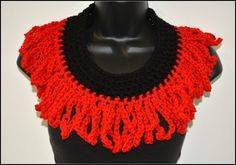 Beautiful Red Chain  Infinity by Beautifulcrochet on Etsy, $12.00