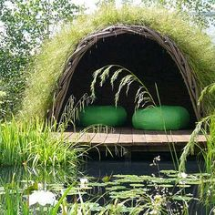 Secret hideaway :)  So love this idea!  Even just a hideaway for privacy in the yard would be awesome!