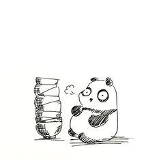 2015.8.28 日付が変わりそうなぐらい遅くなった日に ラーメン食べて帰ろうと思い、 大好きなラーメン屋さんもイイが 失敗してもイイから別の店に行ってみようと思い、失敗したよ。 #パンダ #ラーメン http://osaru-panda.jimdo.com