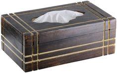 SouvNear Wooden Tissue Box Cover Rectangular Dispenser for Home Kitchen Bathroom