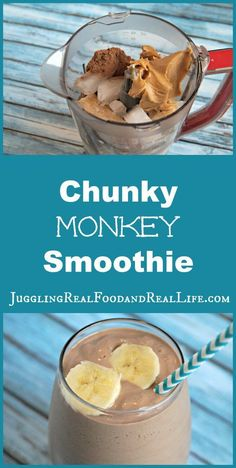 Chunky Monkey Smoothie #SmoothiesRecipes