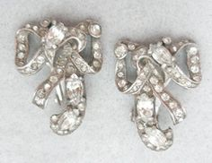 Eisenberg Sterling Bow Earrings - Garden Party Collection Vintage Jewelry