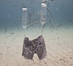 Underwater Sculptures on Our Oceanic Trash Problem