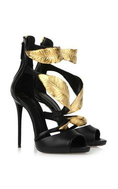 Gold leaf stilettos