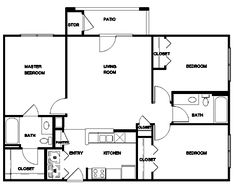 1000 images about floor plans on pinterest floor plans for 1200 square foot open floor plans