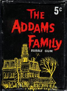 Addams Family Gum Cards pack (Donruss, 1964)