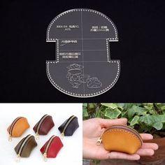 Leather Craft Monedero Tipo Concha Mini Bolso Acrílico plantilla patrón de la plantilla | Artesanías, Trabajos en cuero, Herramientas para trabajo en cuero | eBay!