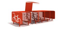 Download the catalogue and request prices of Bike box | bicycle rack By metalco, steel bicycle rack design Staubach + Kuckertz
