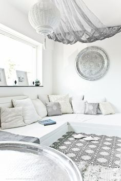 All white Moroccan Glam Interiors.