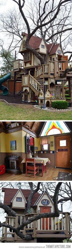 when i have kids i'm gonna build a playhouse like this for them