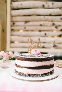 It's a Girl! Naked Baby Shower Cake