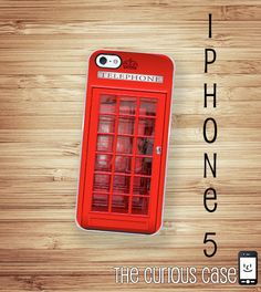 iPhone 5 Case UK Phone Booth Hard Case / Hard by TheCuriousCaseLLC, $18.99