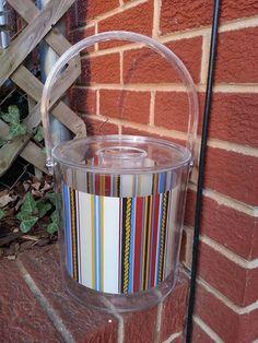 Ice Bucket - Acrylic Ice Bucket - Vintage Ice Bucket - Mid century Ice Bucket - Nautical Ice Bucket - Clear Ice Bucket - Retro Ice Bucket by MyHailiesHaven on Etsy