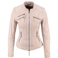 """CKN Of Scandinavia"" Rose Pink Fitted Leather Jacket - TK Maxx Tk Maxx, Dress Me Up, Pink Roses, Women Wear, Leather Jacket, Athletic, Fitness, Jackets, Dresses"