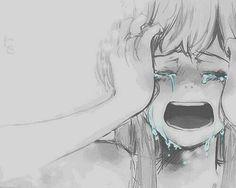 Chica llorando.