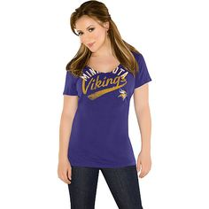 25d1a642a Minnesota Vikings Women s Audible Tee from Touch by Alyssa Milano available  at End Zone Apparel Jaguars