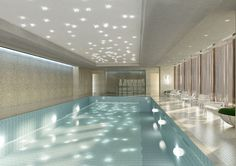 Swimming pool at Chuan Spa. At The Langham, Chicago. Opening Summer 2013.