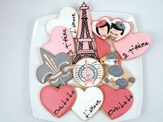 French Romance Cookie set.  Ooh La La!