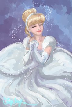 Petitetiaras' 20 Day Princess Challenge day the dress you wish you owned Cinderella's ballgown. shimmering and sparkling and all around perfect. Half an hour in SAI. Disney Kunst, Arte Disney, Disney Magic, Disney Artwork, Disney Fan Art, Disney Drawings, Disney Pixar, Disney And Dreamworks, Disney Characters