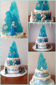 Frozen Ice Castle cake  - Cake by Jules Buxton