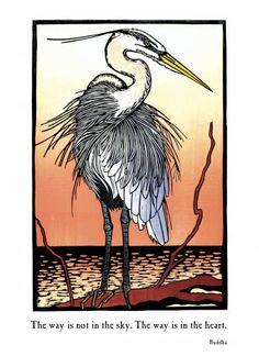 oh, herons! woodcut by Nick Wroblewski Heron Tattoo, Watercolor Bird, Watercolor Journal, Linocut Prints, Woodcut Art, Blue Heron, Gravure, Woodblock Print, Bird Art