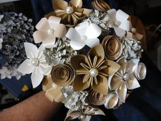 Sample Paper Flower Bouquet  - Nicke - Origami  - Kusudama