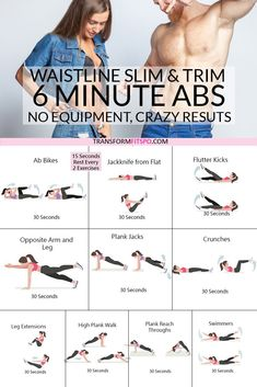 Ultimate 6 Minute Abs Workout to Trim and Slim [AWESOME Results!] Ab blast home workout. This is a quick and intensive abs workout that engages all of the muscles of your core. It will help you with your lower belly, t Ab blast home worko Fitness Workouts, Exercise Fitness, Fitness Workout For Women, Body Fitness, Fitness Motivation, Female Fitness, Health Fitness, Hard Ab Workouts, Lower Ab Workout For Women