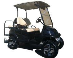 Used Lifted Golf Cart Black Club Car Precedent -  $6,000.00 Lifted Golf Carts, Used Golf Carts, Club, Black, Black People