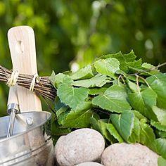 vihta for sauna  ...*When I was a girl, we used cedar boughs for vihta in my grandparents' sauna.
