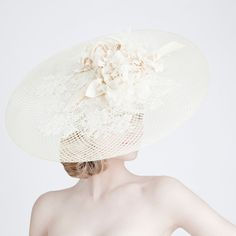A beautiful wide brim #hat by Dillon Wallwork, perfect for a summer wedding