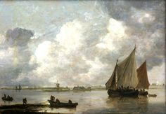 Jan van Goyen, 'Das Haarlemer Meer' (The Lake of Haarlem). Van Goyen 1596-1656) was a Dutch landscape painter. Van Goyen was an extremely prolific artist; approximately twelve hundred paintings and more than one thousand drawings by him are known. Jan van Goyen would be classified primarily as a landscape artist with an eye for the genre subjects of everyday life. He painted many of the canals in and around Den Haag as well as the villages surrounding countryside of Delft, Rotterdam…