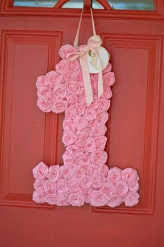 Number welcome at a Pink Ruffles Party #pink #party