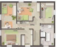 Wohnfl che Obergeschoss mit sechs Zimmern