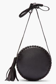 WENDY NICHOL Black braided leather Canteen Bag