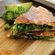"""Broccoli Quesadillas - """"Our Usual"""" and the """"Fancypants"""""""