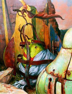 Samuel Bak  The Secret,   Oil on canvas, 116X89 cm,  Signed.  Price: $32000  * Price includes buyer's premium and VAT