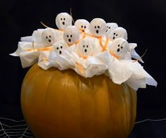 Birthday Party Blog: halloween.  Make these with lollipops for favors