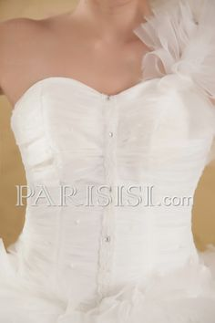vestidos de novia Sin Mangas Catedral Tren Corazón Elegante Moderno Glamouroso Organza Corte A Hasta Suelo
