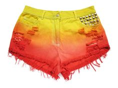 Ombre high waist shorts L by deathdiscolovesyou on Etsy, $35.00