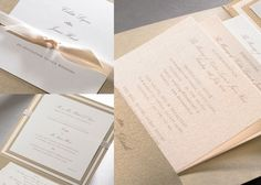 Elegant Ivory and Gold Wedding Invitations