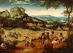 La Fenaison, le cycle des saisons, juin-juillet, 1565, huile sur bois (chêne) 114+158 cm, non signé.
