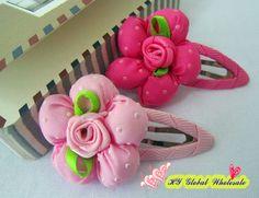 Freeshipping! New Kids/Children/Baby Girl/simple ribbon flower elastic Hair Band/Hair ties/Hair Clips/Hair Accessories/wholesale